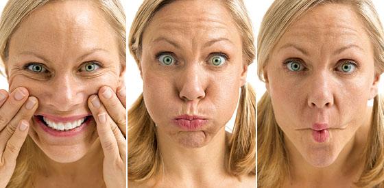 geheim massage gezicht zitten